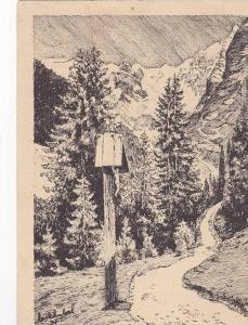 Scenic View of Woods, Karl Winkel, Blick Auf Das Wetterfteingebirge, Garmisch...