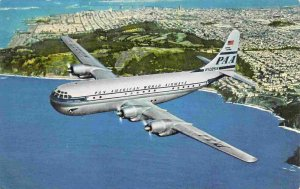 Pan Am Strato Clipper Airline Plane Aircraft postcard
