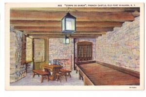 Old Fort Niagara Corps De Garde French Castle NY Postcard