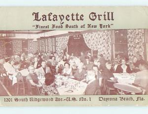 Unused 1950's LAFAYETTE GRILL RESTAURANT Daytona Beach Florida FL p6510