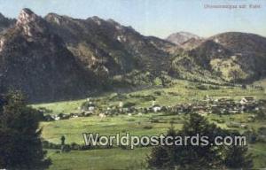 Oberammergau Germany, Deutschland Postcard Mit Kofel  Mit Kofel