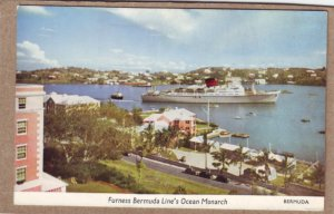 P1349 vintage unused postcard furness bermuda line ocean monarch tour ship