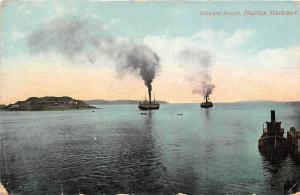 Canada, N.S. Halifax Harbour, Outward Bound, boats bateaux 1911