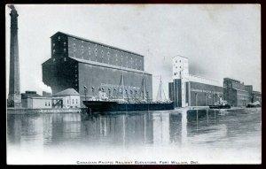 dc1249 - FORT WILLIAM Ontario Postcard 1900s CPR Grain Elevators