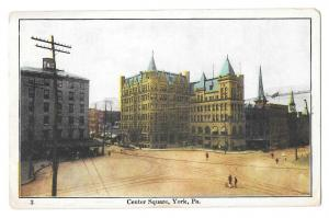 York PA Center Square Vintage McCrorey Postcard