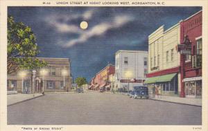 Tennessee Morganton Union Street At Night Looking West