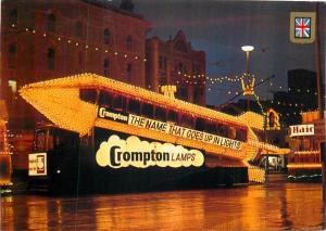 Blackpool illuminated rocket tram postcard