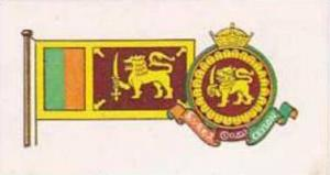 Brooke Bond Tea Vintage Trade Card Flags &  Emblkems Of The World No 7 Ceylon