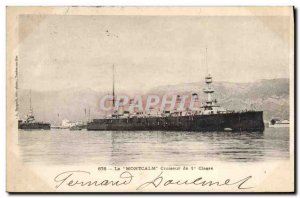 Old Postcard Boat The first class cruiser Montcalm