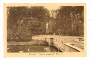 Park Met Standbeeld  Tollens , Rotterdam (South Holland), Netherlands, PU-1931