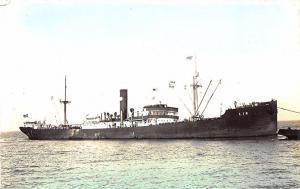 Eir Cargo Steam Ship Tinted Real Photo RPPC Postcard