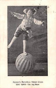Circus Post Card, Old Vintage Antique Postcard Zeynards Marvelloas Midget Cir...