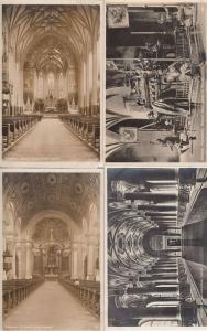 Munchen Frauenkirche St Josefs Johann Baptist 4x Religious Real Photo Postcard s