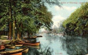 NY - Syracuse. Outlet of Onondaga Lake