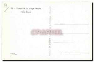 Modern Postcard Deauville Fleurie Hotel Royal Beach
