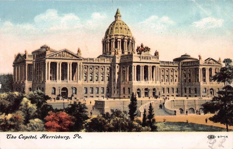 The Capitol, Harrisburg, Pennsylvania, early postcard, unused