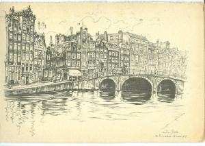 Netherlands, Anton Pieck, Torensluis te Amsterdam, 1954 used
