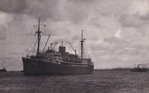 SS Accra Ship in 1959 Vintage Photo