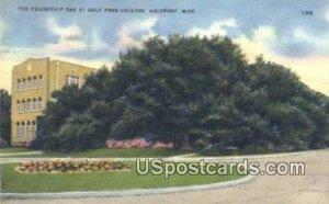 Friendship Oak, Gulf Park College in Gulfport, Mississippi