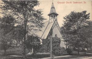 Coudersport Pennsylvania~Episcopal Church~Lots of Trees in Front~c1910 B&W Pc