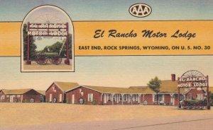El Rancho Motor Lodge, ROCK SPRINGS, Wyoming, 30-40s, Lincoln Highway