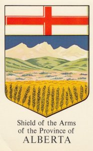 Shield of Arms of the Province of ALBERTA, Canada, 1940-60s