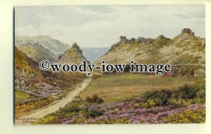 ar0296 - The Valley of Rocks, at Lynton *2092. Artist - A R Quinton - Postcard