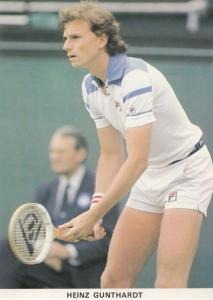 Heinz Gunthardt Switzerland Tennis Champion Rare Postcard