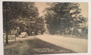 North Williamsburg Road Blossburg Pa Postcard RPPC Street View Car