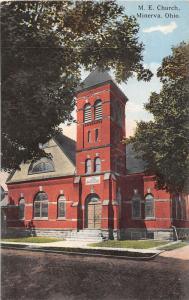 E87/ Minerva Ohio Postcard Carroll County c1910 M.E. Church Building 26