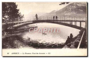 Old Postcard Annecy New Amours Bridge