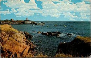 View Of Neil's Harbour Cape Breton Island, Nova Scotia, Canada POSTED Postcard