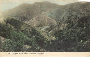 Vintage Postcard Copper Mountains Clarendon Jamaica Caribbean Hand Colored No.21