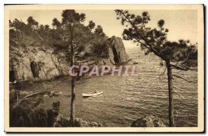 Old Postcard From The Rocks Trayas