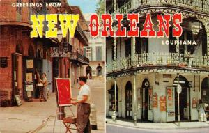 Greetings New Orleans, Louisiana, painter