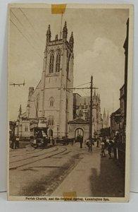 Parish Church Original Spring Leamington Spa Vintage Postcard