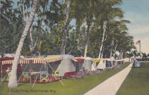 A Trailer Camp Down Florida Way Curteich