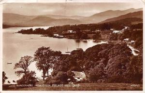 Lake Windermere from Queen Adelaide Hill, Panorama, Real Photograph 1934