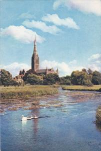 England Salisbury Cathedral From The River Avon