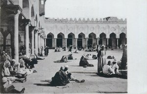 ethnic scenes et types postcard Al-Azhar mosque inside view
