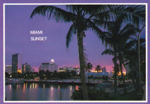 Sunset Over Miami Florida
