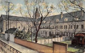 New Orleans Louisiana~Archbishopric~View From Elevated Sidewalk~1910 Postcard