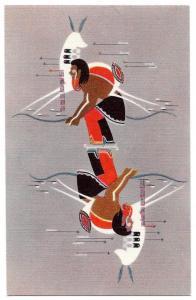 Onandaga Painting Hunter American Indian Museum NY Postcard