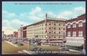 Sixteenth Street Plains Hotel Cheyenne WY unused c1941