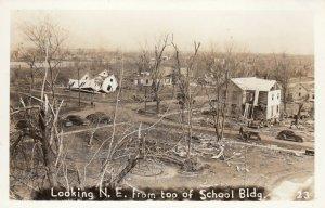 RP: BUNKERHILL , Illinois , 1948 ; Tornado , Looking N.E.