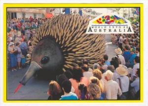 Echidna Float , Lunchtime Parade, World Expo 1988, Brisbane , Australia