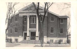 Lebanon Missouri First Baptist Church Real Photo Antique Postcard KA688874