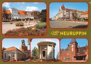 Gruesse aus Neuruppin Kirche Church Commerce Shops Auto Cars
