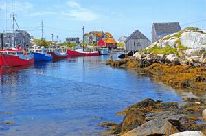 New Postcard Peggys Cove Harbour, Nova Scotia, Canada, Boats 89F