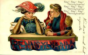 Pennsylvania - Ray! Ray! Ray! - Artist Signed: F. Earl Christy